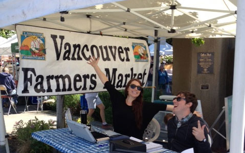 Vancouver Farmers Market Booth